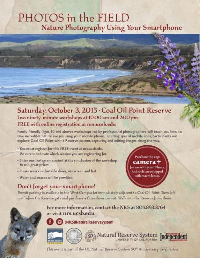 NRS 50 Anniversary Coal Oil Point flier